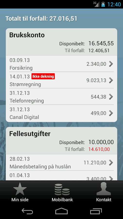 MelhusBank - screenshot