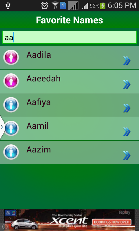 Muslim Baby Names Meaning Screenshot