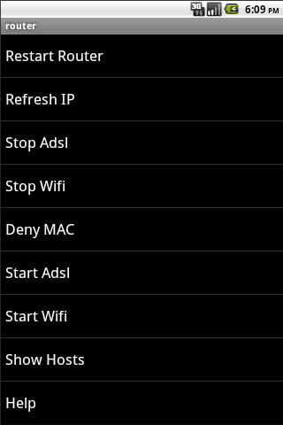Router Remote - screenshot