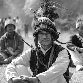 Wizard by Naveen Rai - Black & White Portraits & People ( traditional, wizard, portrait, nepal,  )