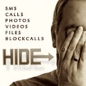 Hide Text Call Foto File Video icon