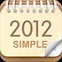 탁상달력 2012 : 심플 (위젯) logo
