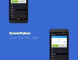 Screenshot of Snowflakes Live Wallpaper HD