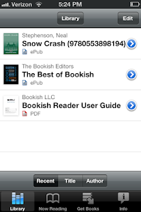 Official Bookish Reader - screenshot thumbnail