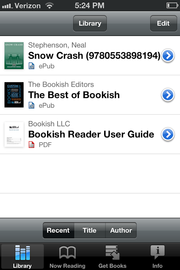 Official Bookish Reader - screenshot