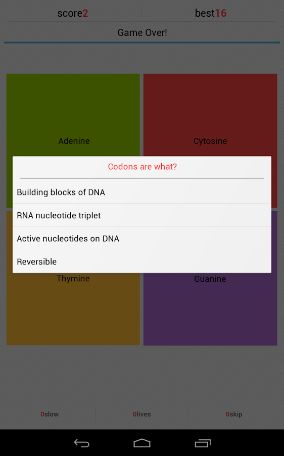 DNA Simon - screenshot