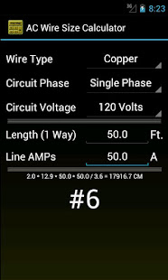 Wire size calculator apps on google play screenshot image greentooth