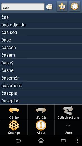 Czech Swedish dictionary
