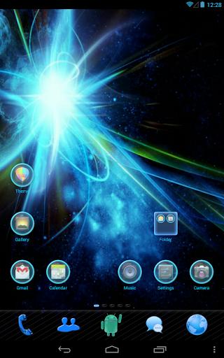 Blue Light GO Launcher Theme