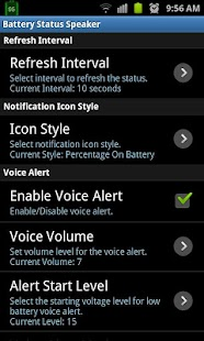 Battery Status Speaker- screenshot thumbnail