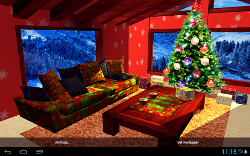 3d Christmas Fireplace Hd Live Wallpaper Full Apprecs