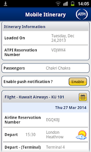 ATPI On The Go - Travel App - screenshot thumbnail