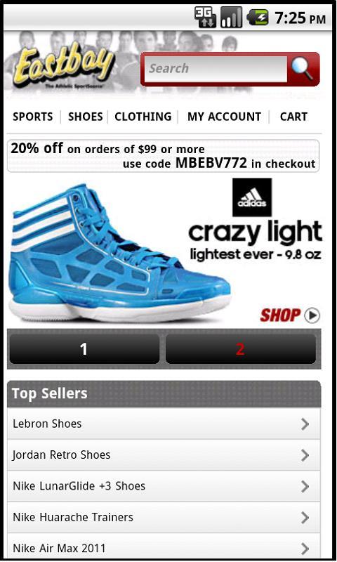 Eastbay Mobile - screenshot