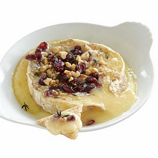 Warm Cranberry-Walnut Brie