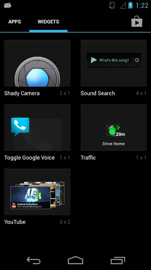 Shady Camera Widget - screenshot