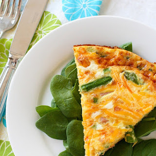 Ham and Cheddar Frittata.