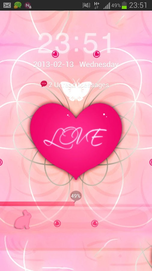 GO Locker Theme Pink Heart - screenshot