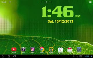 Screenshot of DIGI Clock Widget Plus