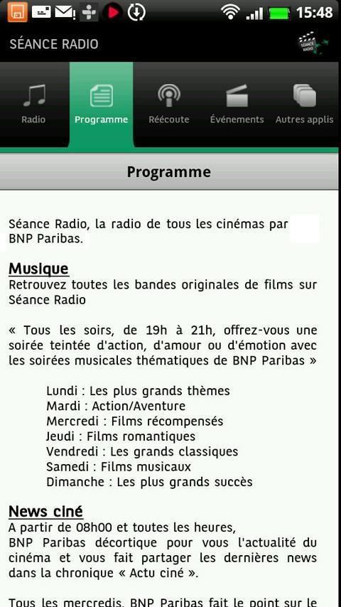 Séance Radio- screenshot