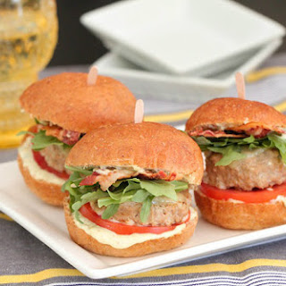 Adobo Feta Turkey BLT Sliders.