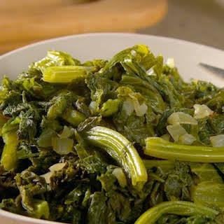Simmered Mustard Greens.