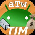 AndroTimWidget Pro via sms logo