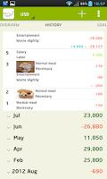 Screenshot of CashFlow+(pro) expense manager