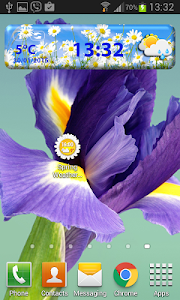 Spring Weather Clock Widget screenshot 5