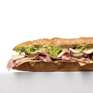 French Ham and Gruyere Sandwich