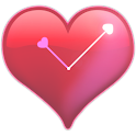 Heart-shaped clock wallpaper icon