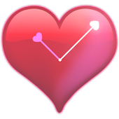 Heart-shaped clock wallpaper
