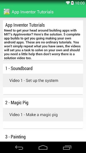 App Inventor 2 Tutorials