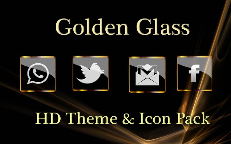 Golden Glass Nova Launcher theme Icon Pack Screenshot 2
