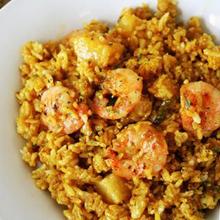Thai Shrimp and Pineapple Fried Rice.