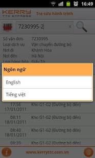 Kerry TTC - Tra cứu hành trình - screenshot thumbnail