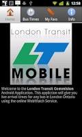 Screenshot of London Transit