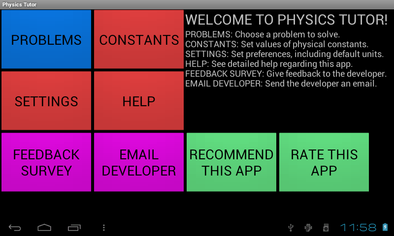 Physics Tutor- screenshot