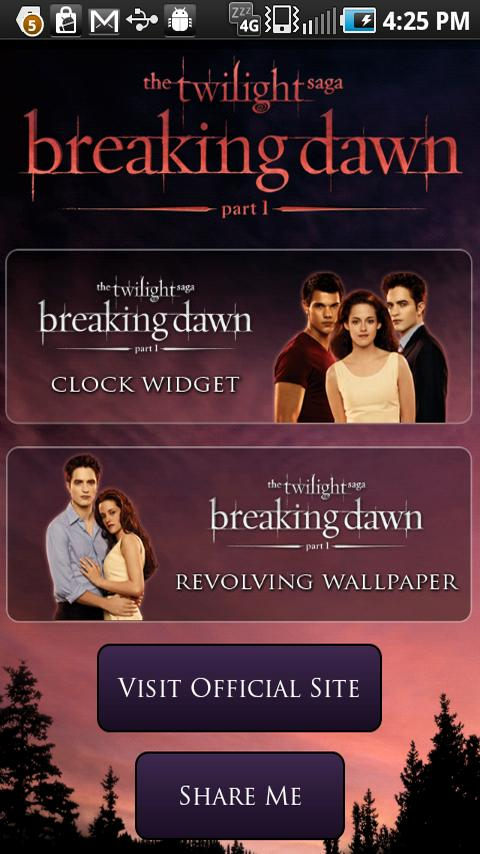 Breaking Dawn Countdown Widget - screenshot
