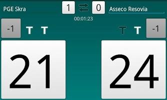 Screenshot of Volleyball Scoreboard