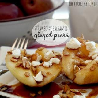 Strawberry Balsamic Glazed Pears
