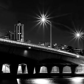Kwinana Bridge, Perth, W.Australia by Barry Ooi - Black & White Landscapes ( mill point photos )