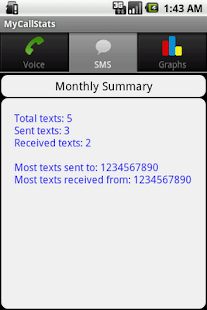MyCallStats - screenshot thumbnail