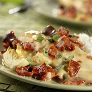 Chicken in Creamy Sun-Dried Tomato Sauce.