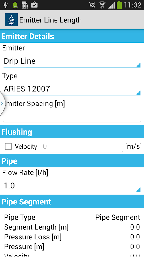 Hydrocalc Pro By Netafim Android Apps On Google Play