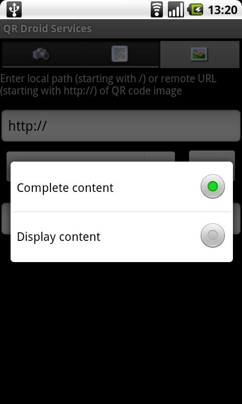 QR Droid Services™ - screenshot