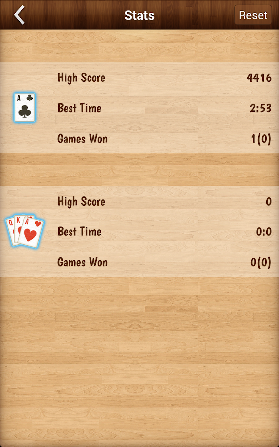 Solitaire classic card game- screenshot