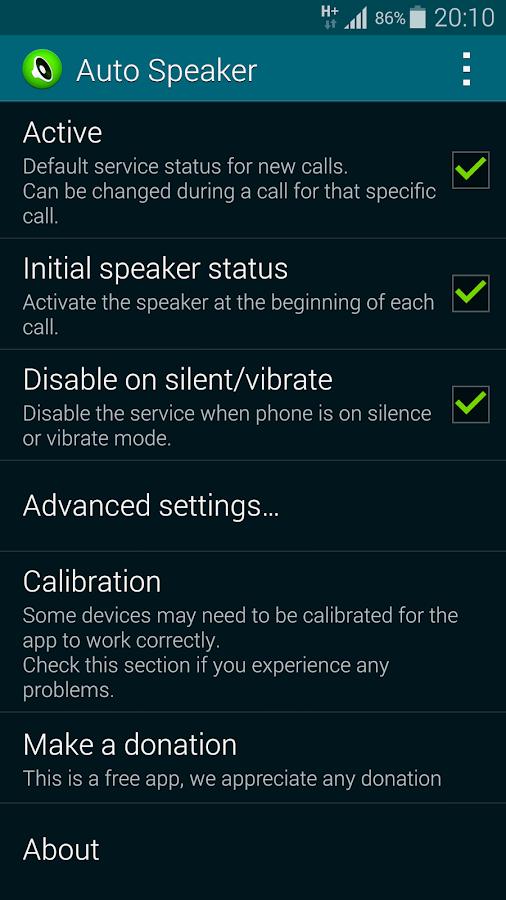 Auto Speaker - screenshot