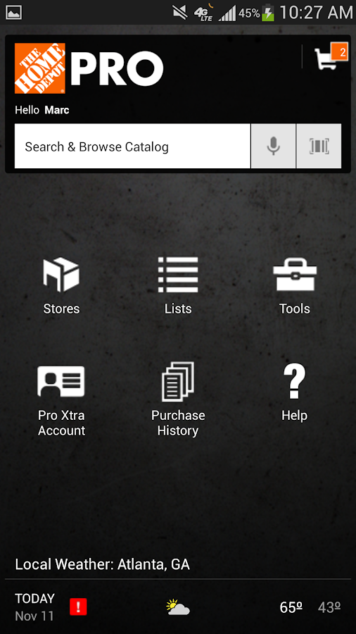 Pro App - The Home Depot - screenshot