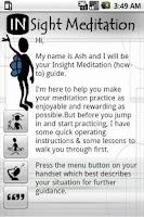 Screenshot of Guided Insight Meditation