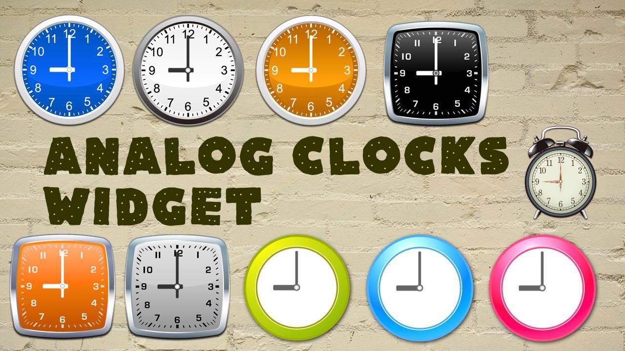 analog clocks widget simple android apps on google play. Black Bedroom Furniture Sets. Home Design Ideas